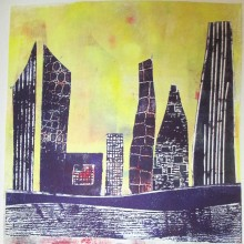 Untitled 3 : Collagraph : Angie Brudnell