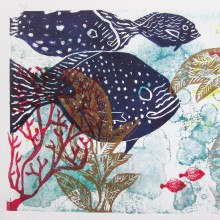 Untitled 4 : Collagraph : Angie Brudnell