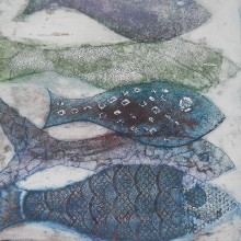 Fish : Collagraph : Annabelle Deutsch