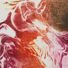 Ice Patterns (red/purple) : Solar Etching : Annabelle Deutsch