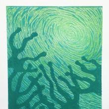 Submerged : Linocut : Kirstie Maclean