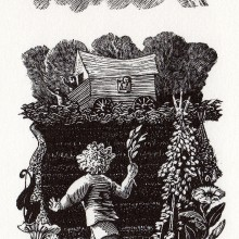 The Chosen Dove : Wood Engraving : Ruth Oaks